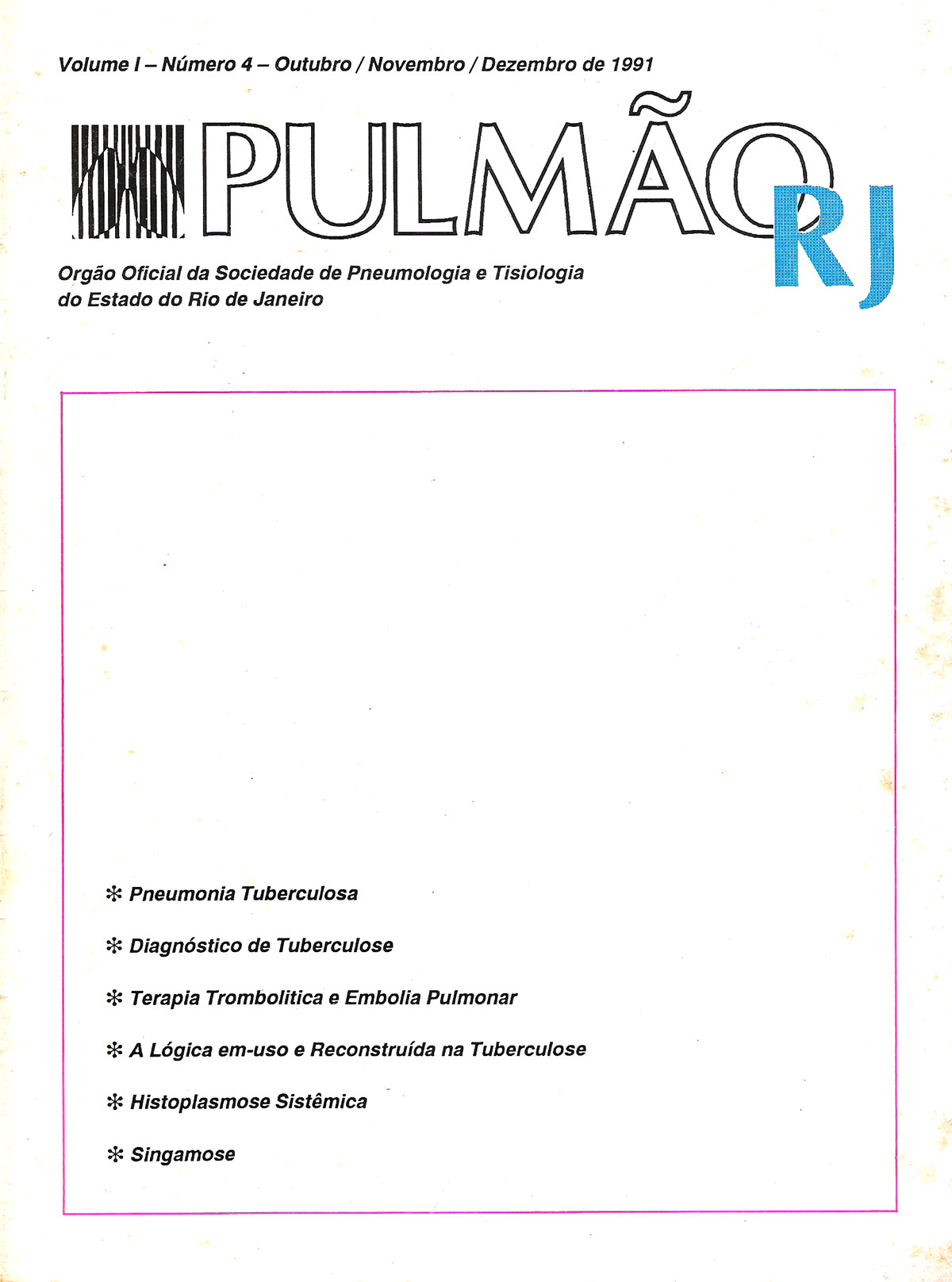 Revista Pulmão RJ 1991 - Número 3