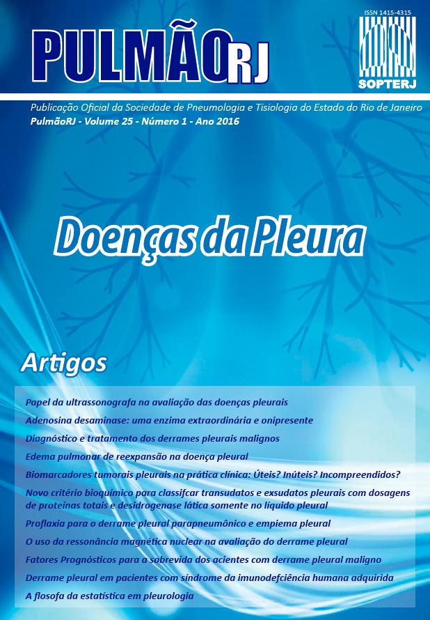 Revista Pulmão RJ 2016 - Número 1